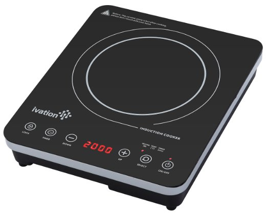 Ivation 1800 Watt Portable Induction Countertop Cooktop Burner