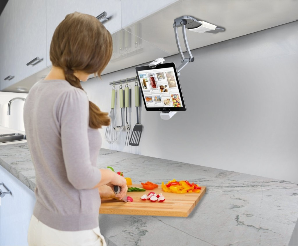 CTA Digital 2-In-1 Kitchen Mount Stand
