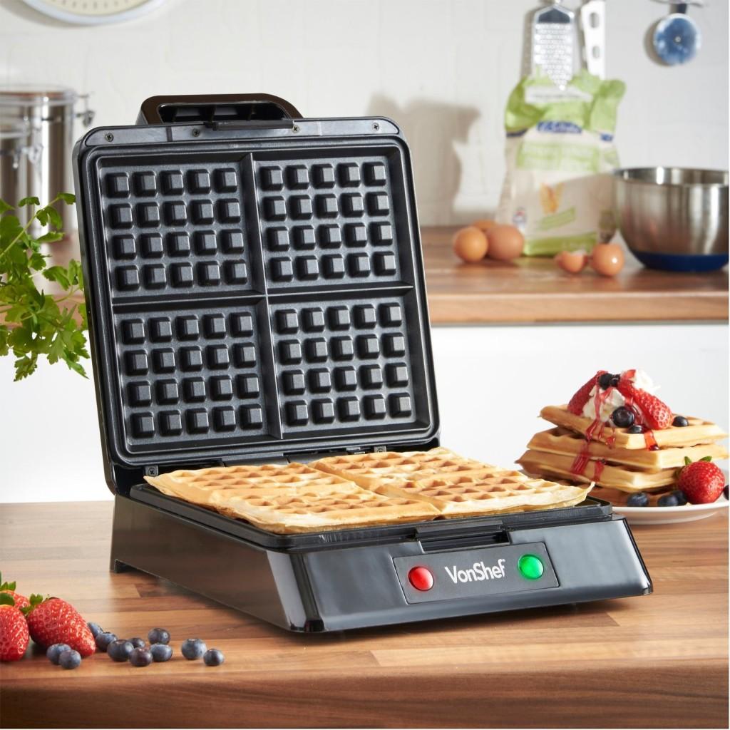 VonShef Quad Waffle Maker