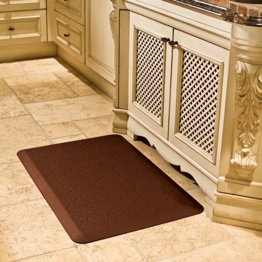 WellnessMats Anti-Fatigue Trellis Motif Kitchen Mat